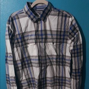 🍄 Men's Fitted Plaid Casual Button Down